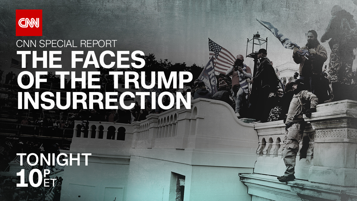 Who are the people involved in the Capitol insurrection? Where are they now? Join Anderson Cooper for CNN Special Report: The Faces of the Trump Insurrection airing, tonight at 10 p.m. ET