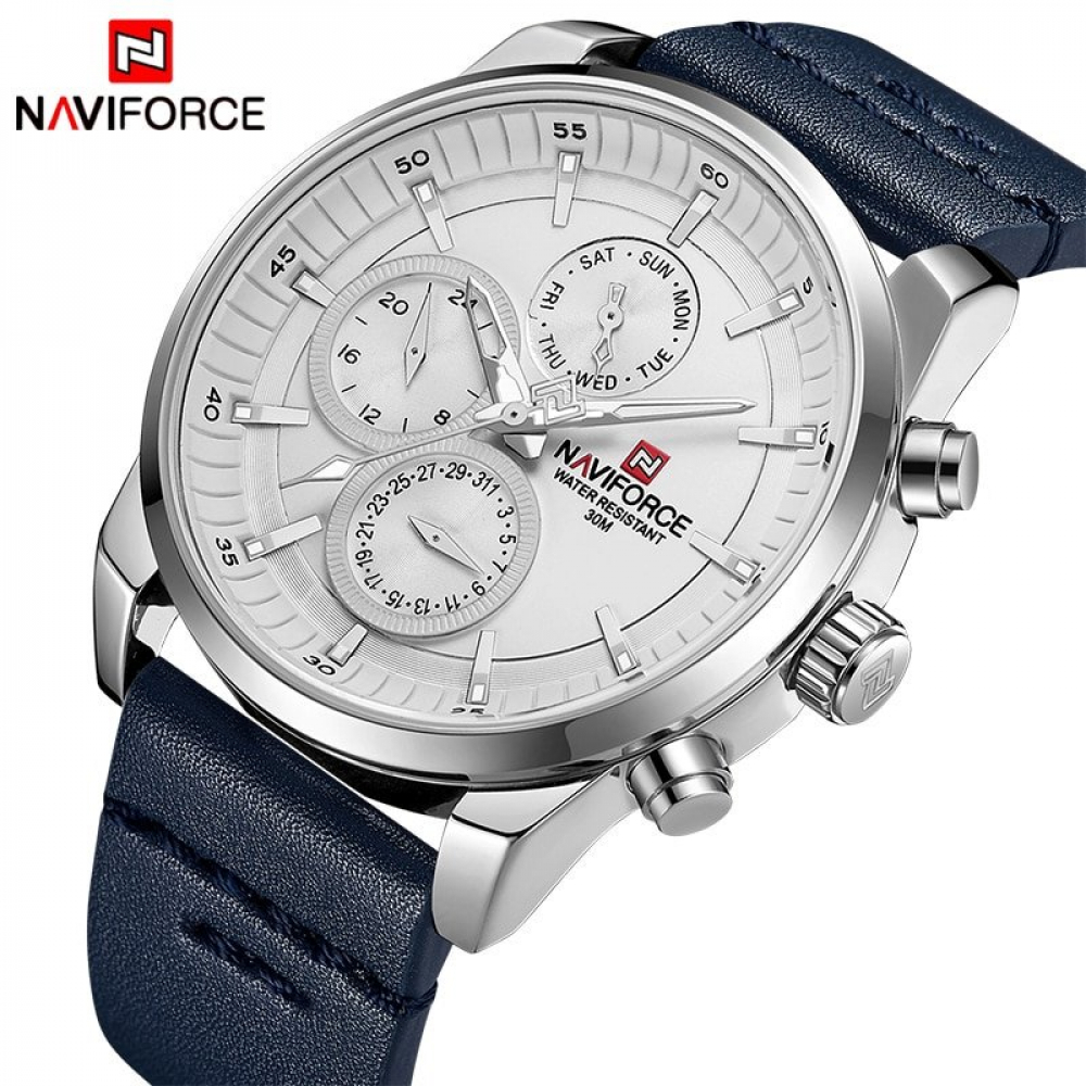 NAVIFORCE Leather Quartz Wristwatch #cart #Clock #Fashion #freeshipping #iceshopy #insta #instadaily #instagood #instalike #leather #Men #shop #shopping #waterproof #wristwatch
