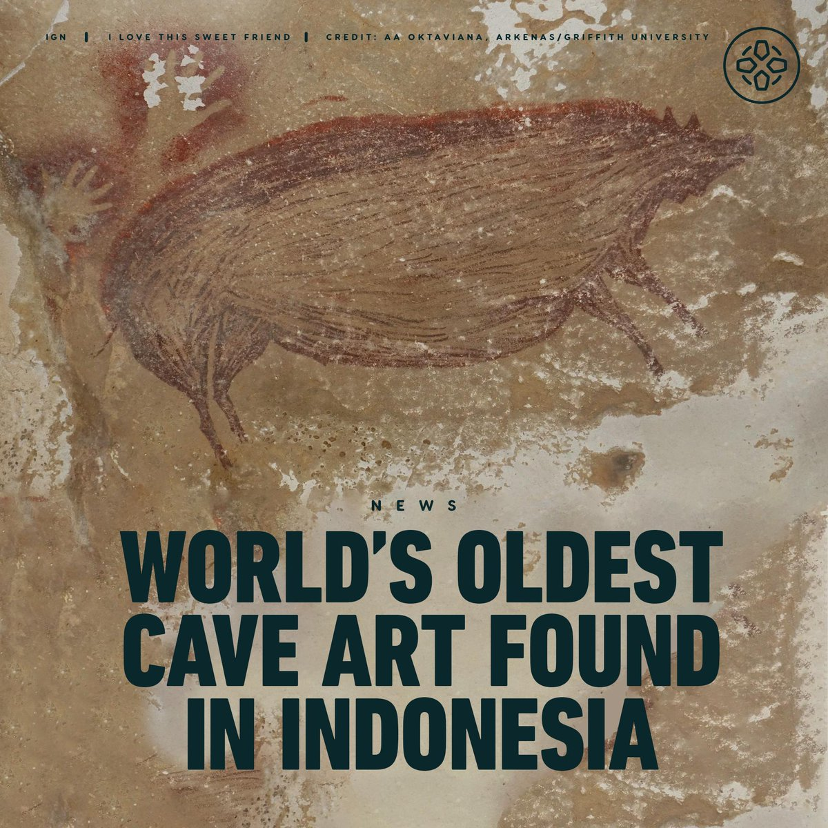 Archeologists discovered what they believe to be the world's oldest-known cave art in Indonesia: a 45,500-year-old painting of a wild pig. 🐖
