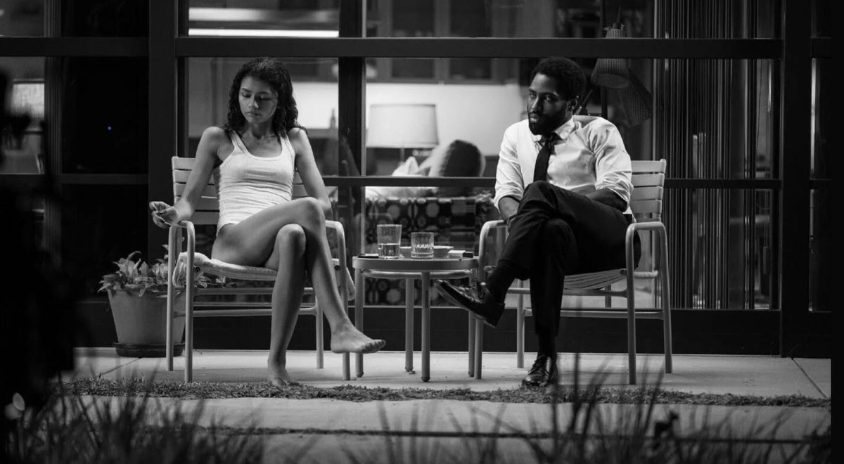 Absolutely LOVED #MalcolmAndMarie and all its meta-ness & discord. Zendaya & John David Washington bring the heat & fire. Sexy, smart & sensational. Engaging character dynamics & sumptuous cinematography. Brilliant move to utilize music like chapter transitions.