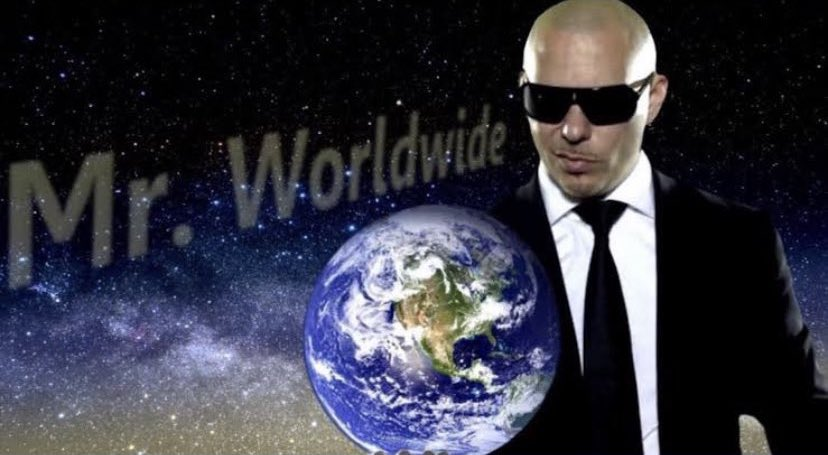 #HAPPYBIRTHDAYPITBULL CANT BELIEVE YOU CREATED THE UNIVERSE