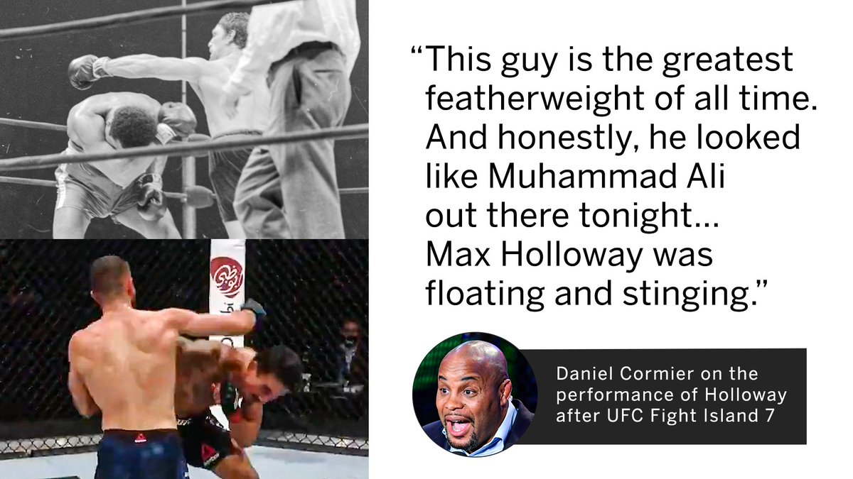 Safe to say DC was impressed with Max Holloway's performance at #UFCFightIsland7 https://t.co/nH0YoPbuvh