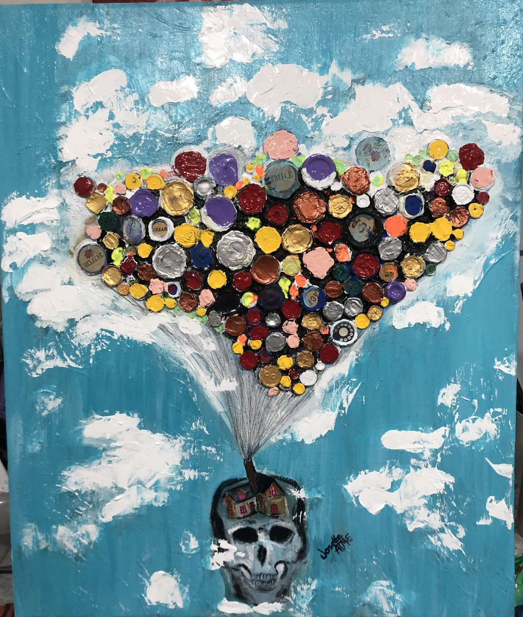 Stay Home , Fly with your Imagination. #ArtistOnTwitter #mixedmedia #PainterOfTheNight #painting #SaturdayNight #SaturdayVibes #StayHome #StaySafe #fly #imagination #ArtLovers #art #clouds #sky #up #high