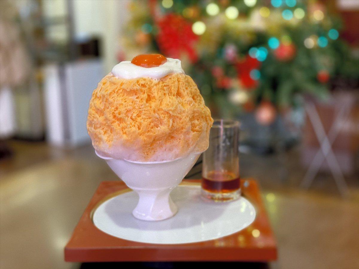 「プディング」 . #shavedice #shaveice #sweets #sweet #xmas #christmas #かき氷 #おやつ #ごはん #クリスマス