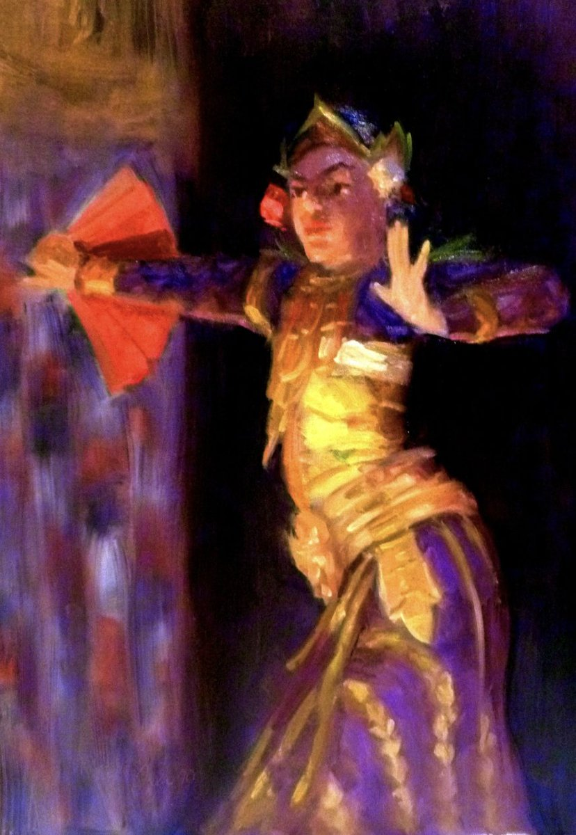 Saw that #Bali was trending. I love Bali. Here are a couple of #paintings that I did while I was there. Enjoy ()  #art #artistsontwitter #dancers #dancer #Artist #Indonesia