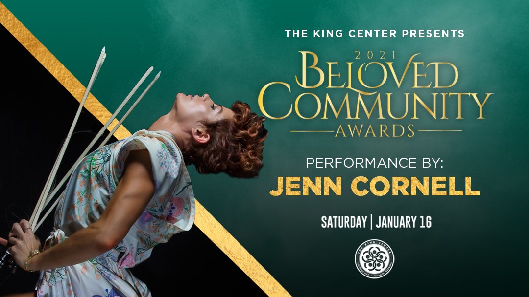 Wow, @JennCornell2! Thank you for your performance at tonight's #BelovedCommunity Awards. #MLK #CorettaScottKing #BCAKingCenter