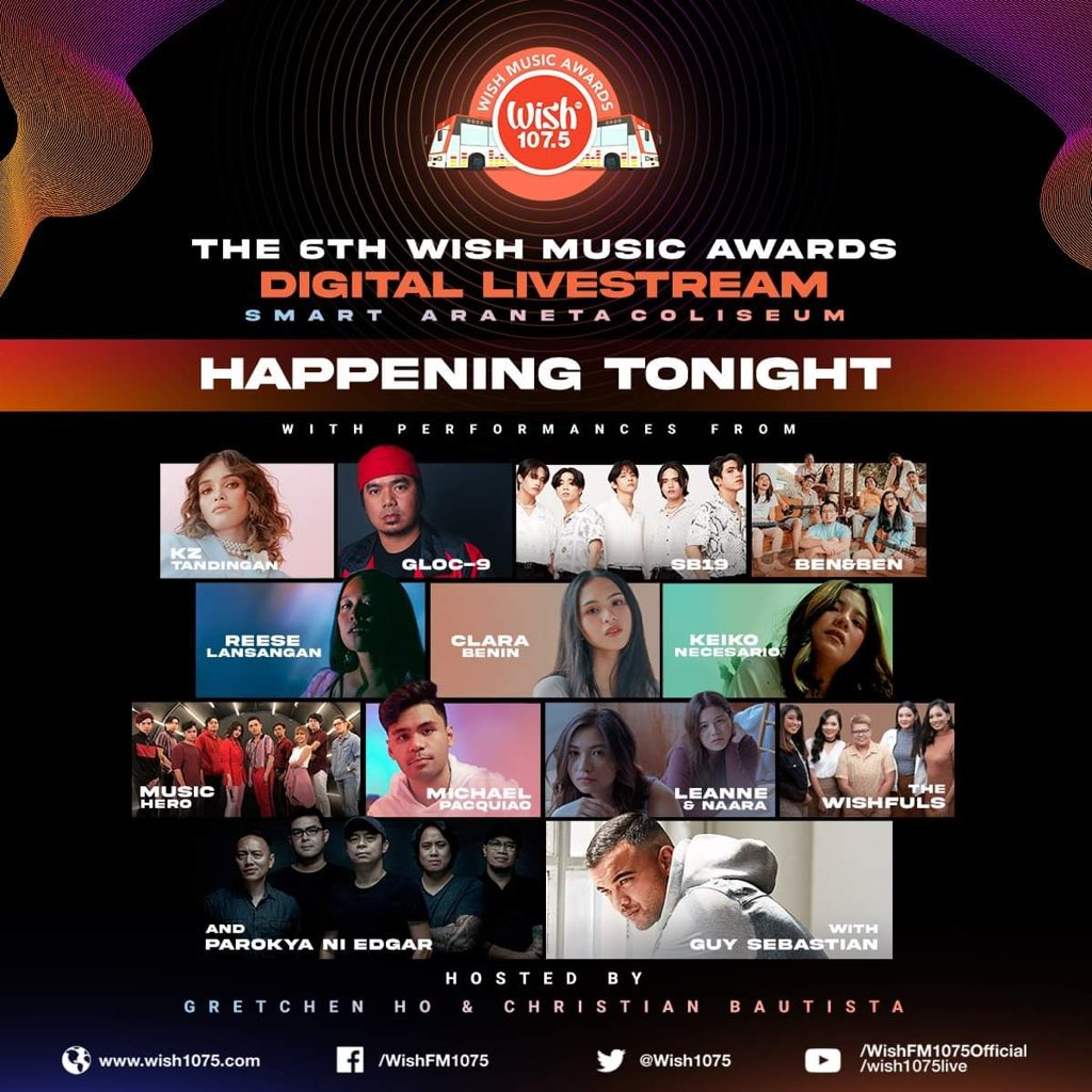 The day we've all been waiting for is finally here! 🥳 The 6th Wish Music Awards Digital Livestream is happening tonight at 7PM! Watch it here:   Any artists you wish to see perform? 👀 #TheBigDome #Wish1075