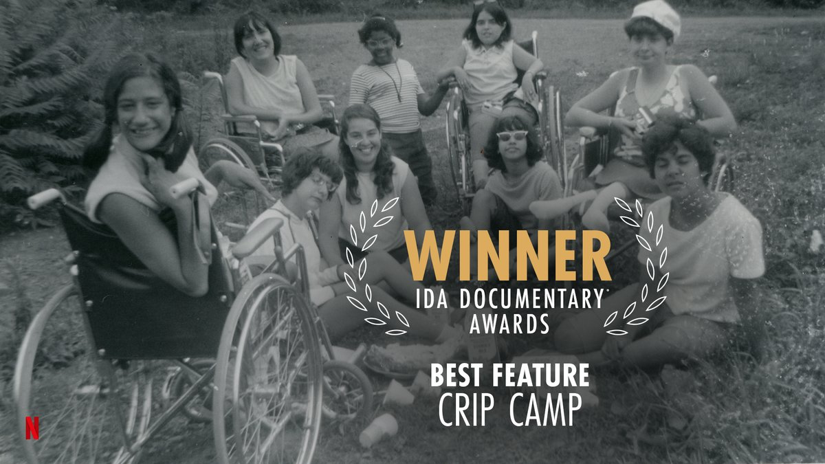 Replying to @netflixqueue: A Disability Revolution. @CripCampFilm wins Best Feature at the @IDAorg! #IDADocAwards 🏆