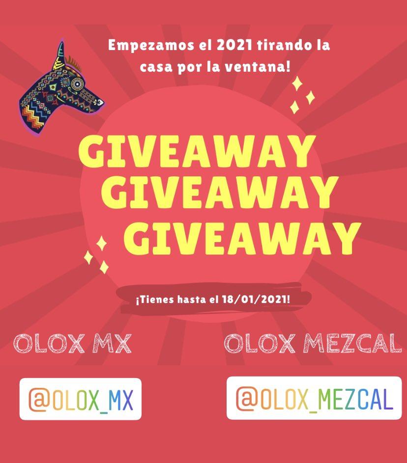 Participen en el #Giveaway de #olox para ganar un excelente kit de souvenirs y #mezcal ‼️ Disponible en FB e IG. #SORTEO #SABADODELUXE #SabadoDeGanarSeguidores #SabadoSagrado