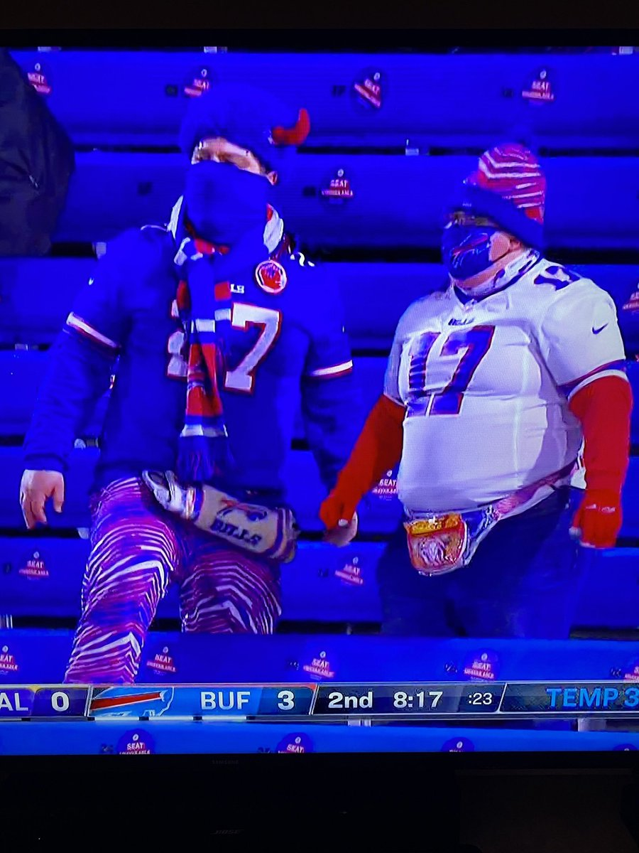 Am I the only one who imagines that you can still buy Zubaz in about every store in Buffalo? #BALvsBUF #NFLPlayoffs #NFLDivisional #NFL
