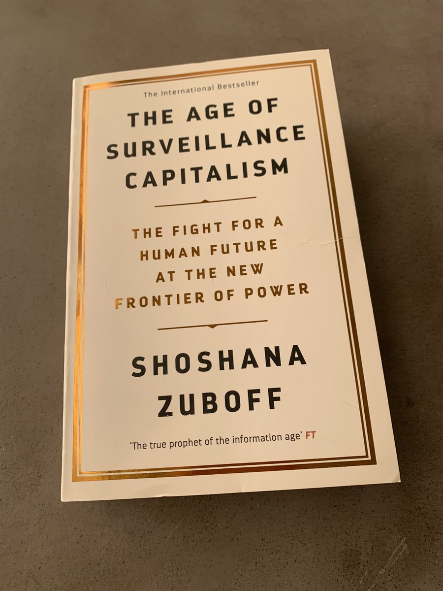 After a long hiatus, monthly #AIEthics #Bookchat 📚 is back on last Sundays at 11a PST. On Jan 31, we'll discuss 'The Age of Surveillance Capitalism' by Shoshana Zuboff. DM for invite to Basecamp. I will post Qs here as well. Happy reading!