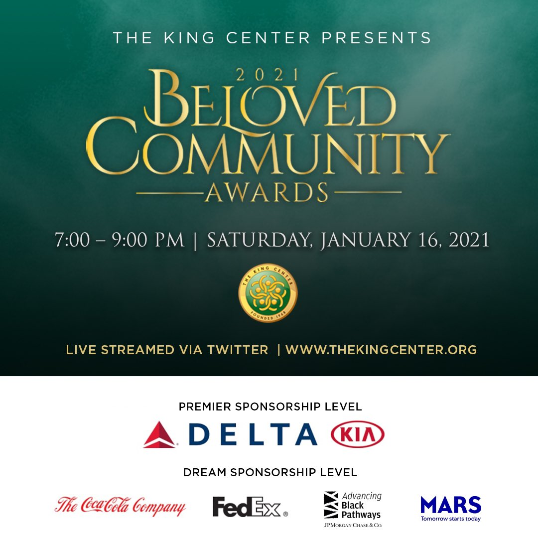 """""""Join The King Center for our #BeLove campaign and on our journey to create the #BelovedCommunity.""""   ~King Center CEO, @BerniceKing   Thank you for joining us for #BCAKingCenter!   Thank you to our honorees, presenters, performers and sponsors!  #MLK #CorettaScottKing"""