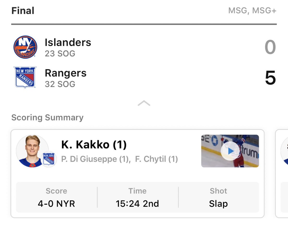 wow can't believe the nyr very first game of the season is a 5-0 shutout win. haters will say this isn't the first but they're lying 😌 #nyr