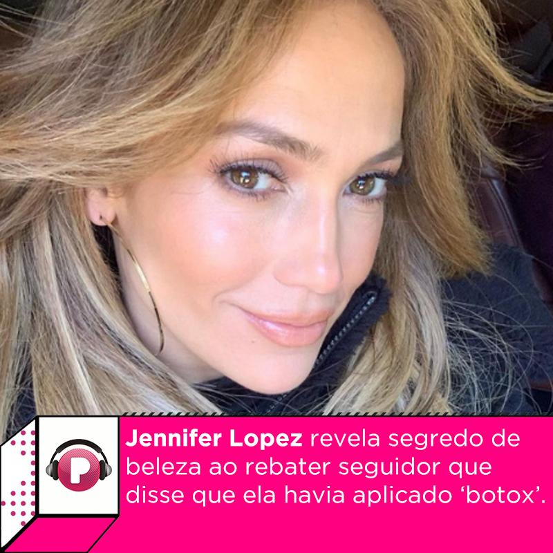 Jennifer Lopez publicou um vídeo para mostrar os efeitos de um dos produtos de sua linha de cosméticos para a pele e acabou recebendo um comentário nada elegante de um seguidor. Veja o que ela disse