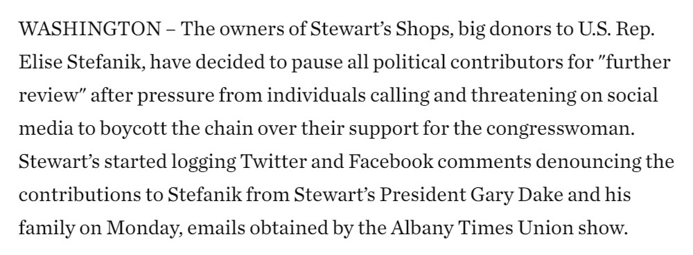 INTERESTING: Owners of a local company that does not have a PAC pledge to pause all campaign donations. Customers were made they had donated extensively to a member of Congress who objected to the electoral college.   https://t.co/5CP4EWXmhV https://t.co/Z3k5lZ4MMQ