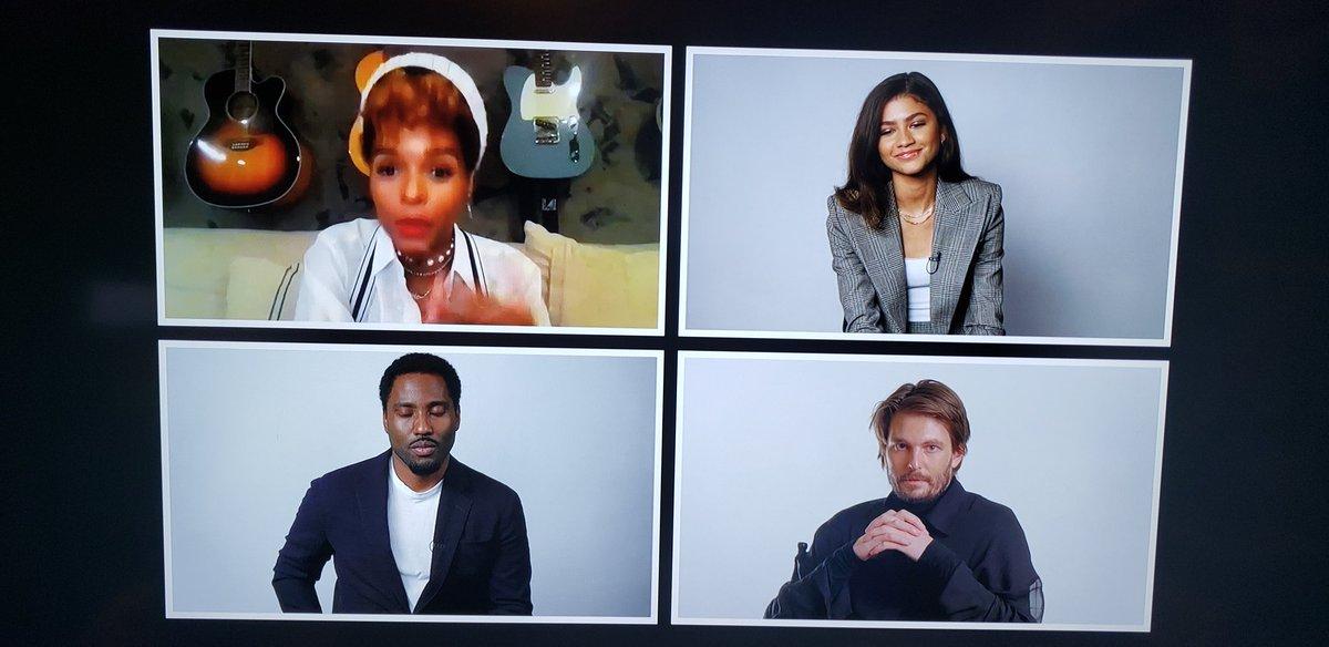 Watching @JanelleMonae moderate #malcolmandmarie panel with #ZENDAYA #johndavidwashington and director #SamLevinson
