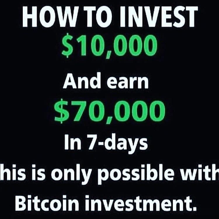 Make up to $70,000 worth of bitcoin within 7days... Dm me ASAP to learn to trade and earn good profit..  #success #forex #trader #money #rich #investment #cryptocurrency #investing #lifestyle #millionaire #crypto #binaryoptions #wallstreet #stocks #trading #blockchain