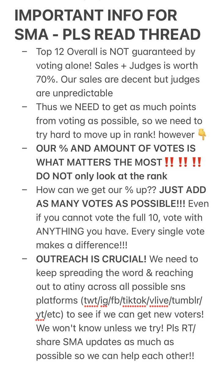 🗣ATINY pls read & RT/share this thread to help get all atiny on the same page regarding our current focus for SMA!   Tutorials, donation links, and other important info in thread below!!  👇👇👇  @ATEEZofficial #ateez #에이티즈  #ATINYto8Percent