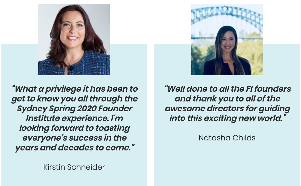 Feedback from the most recent @founding #founderInstitute batch/cohort. Next one: March 2021. Apply now!  #foundingSyd #fiworldwide #founders #australia #founder #startup #startups #startupAUS #nsw #sydney #entrepreneurship #accelerator #perth #WA #Adelaide