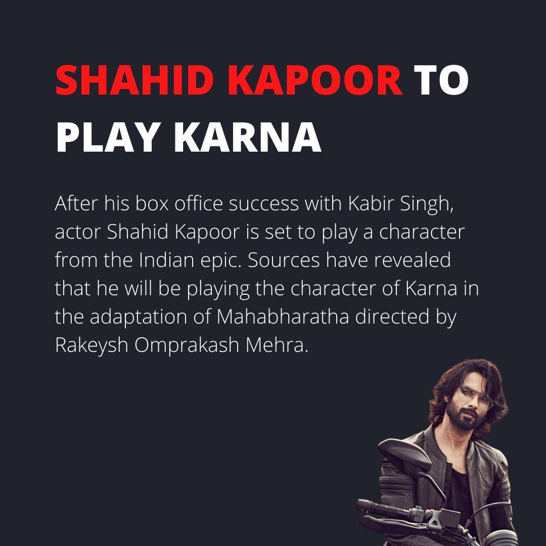 Shahid Kapoor to play Karna in Mahabharata adaptation. Would he suit the role?  #shahidkapoor #jersey #kabirsingh #karna #karnan #mahabharat #hindu #hindumythology #hindumythologyinspired #indianepic #ramayana #rakeyshomprakashmehra #adaptation #movies #bollywood #shortlyindia