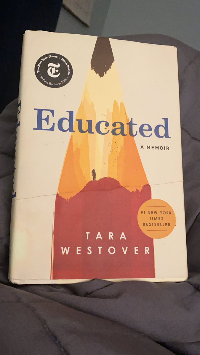 2 AM. Just finished @tarawestover 's memoir about selfhood, values, change, and SO MUCH GOOD STUFF AH I ADORED IT. Thank you for being brave in telling it.