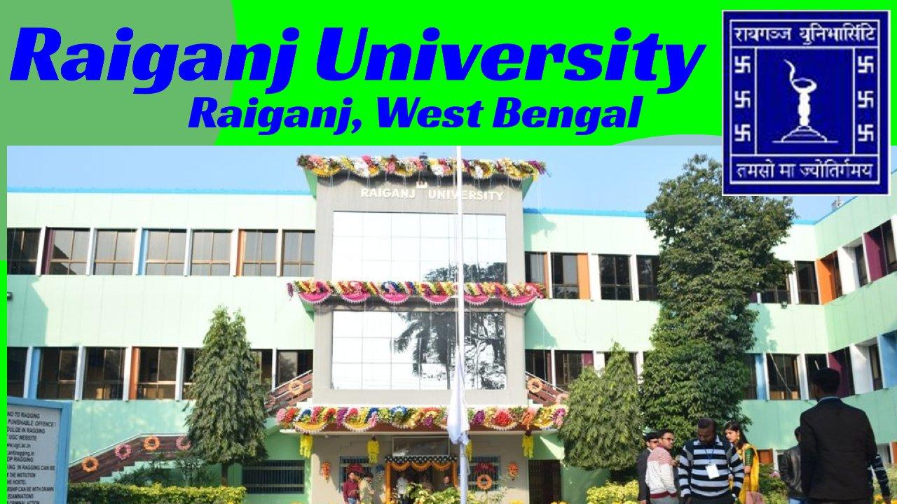 Various Teaching Positions at Raiganj University, West Bengal, India
