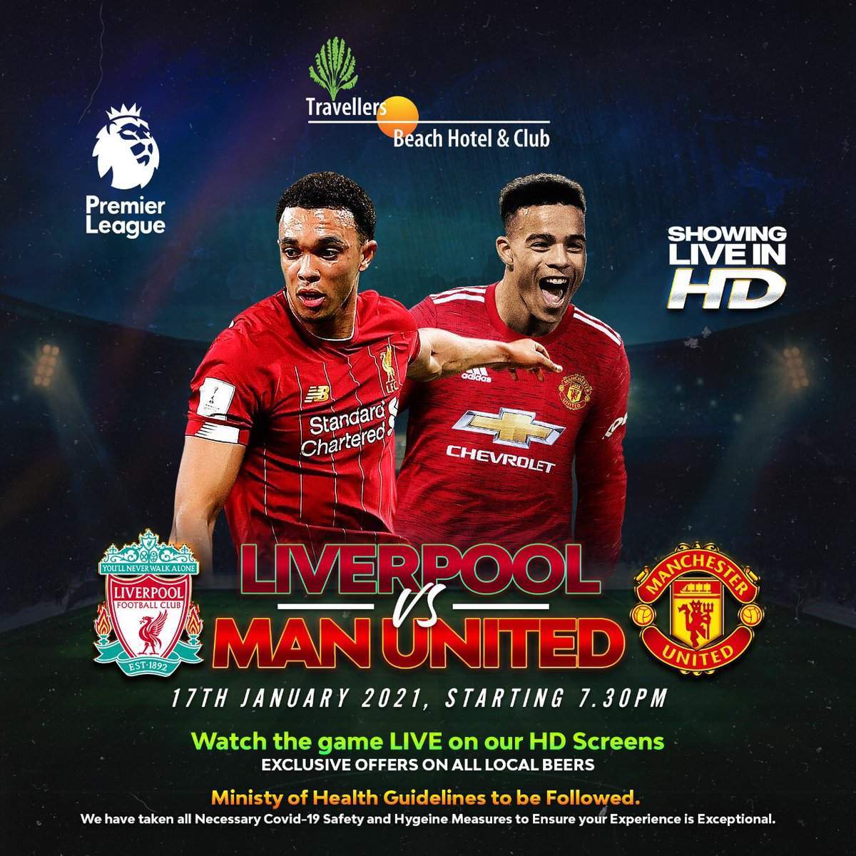 Who will take the 3 points home? Come watch the clash of the titans Live on our Hd screens today!  #MustBeTravellers #BarbecueWeekend #Football #Epl #FamilyTime #Holiday #BeachLife #Vacation #Resort #Fun #Music #Brunch #MagicalKenya #TembeaKenya #Mombasa #travel #LIVMUN