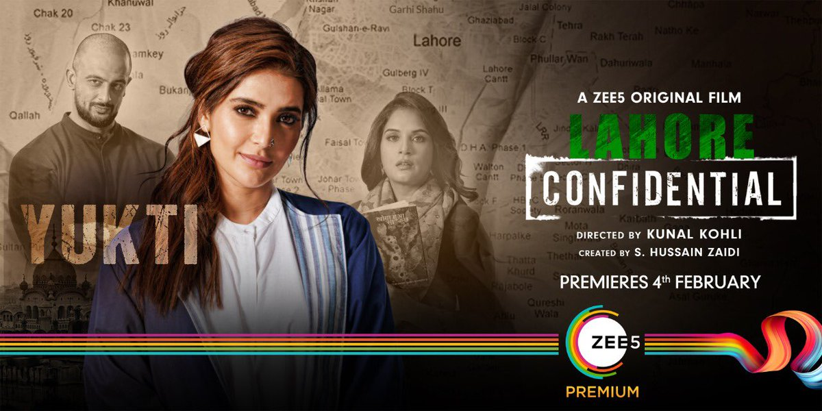 Are strategy and diplomacy enough to win any battle? Watch #LahoreConfidential to find out. Premiering 4th February on @ZEE5Premium. #WhateverItTakes  @JarPictures @ajaygrai @kunalkohli @RichaChadha @arunodaysingh7 @KARISHMAK_TANNA @deepaksimhal
