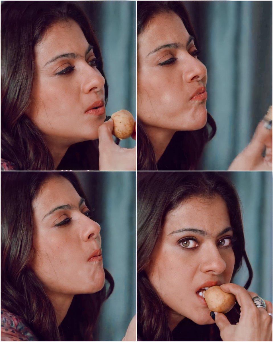 Good morning 💓🦋 #tribhanga who is this while eating ?😆😆 @itsKajolD