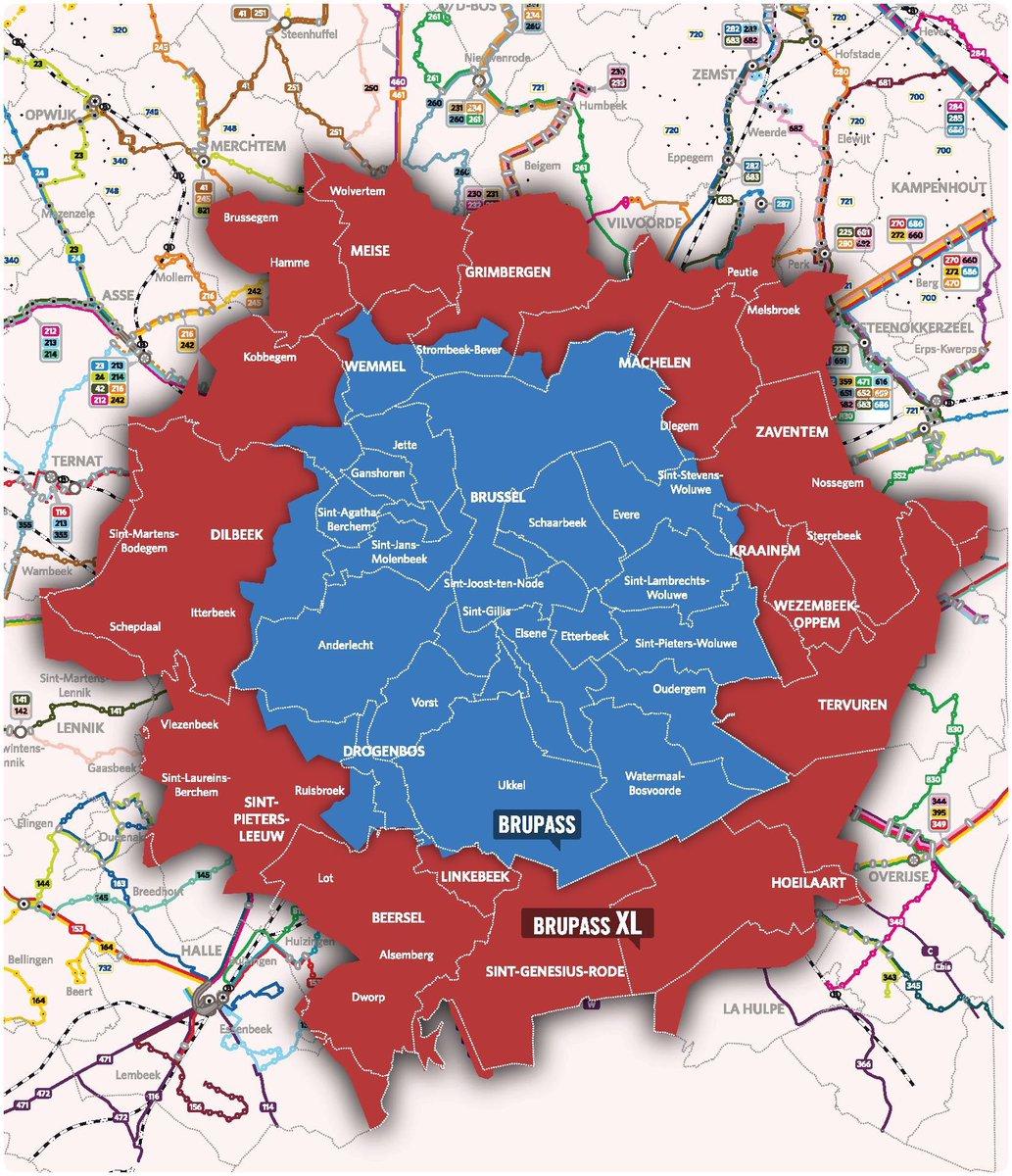 Nouveauté à partir du 01/02 : Brupass XL 🚇🚋🚌🚆  Voyagez avec un titre de transport à travers Bruxelles et sa périphérie élargie avec la STIB, De Lijn, SNCB et Le TEC. 😁  Plus d'infos ⏩