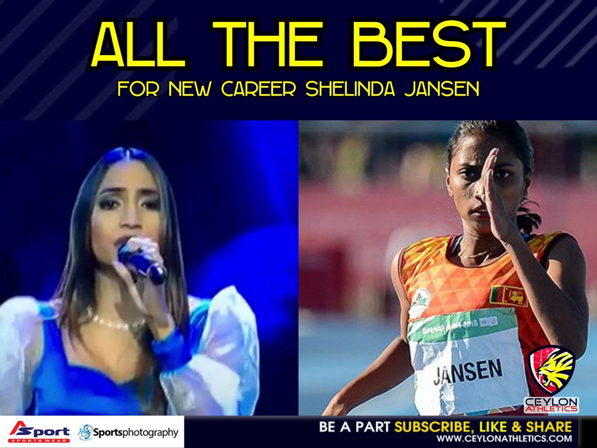 All the best for the Singing career Shelinda Jansen Catch her live tonight. #TheVoice 🎤🎼 P.S - She haven't stopped her athletics career .. will be competing in Next competitions . #lka #SriLanka