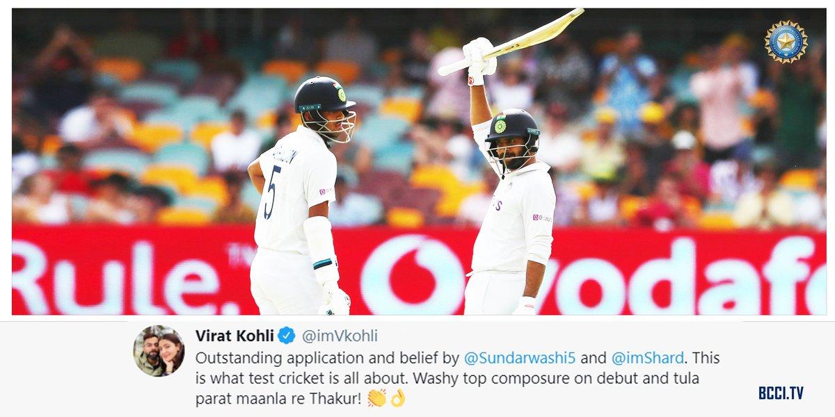 Words of praise from Captain @imVkohli 👌👌  #AUSvIND