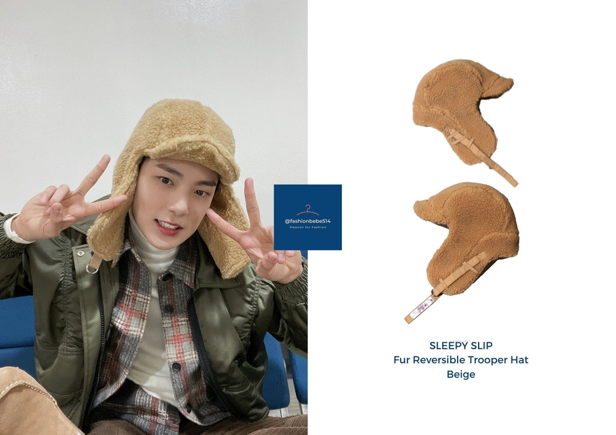 🐶 210117 SBS Inkigayo / @OfficialMonstaX Twitter  ⭐️ Sleepy Slip Fur Reversible Trooper Hat   We love that Minhyuk and Jaehyun were twinning with the fur hats, it was so cute!   #Minhyuk_Fashionbebe #MINHYUK #민혁 #MONSTA_X #MONSTAX