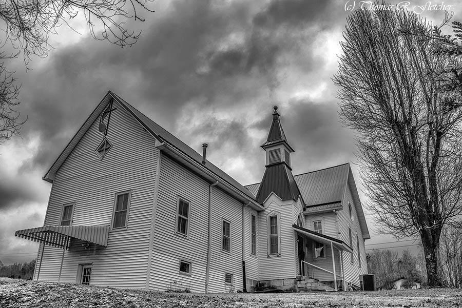 Flatwoods Methodist Church #AlmostHeaven #WestVirginia #Faith #Hope #Love #OldTimeReligion #ThePhotoHour #blackandwhitephotography