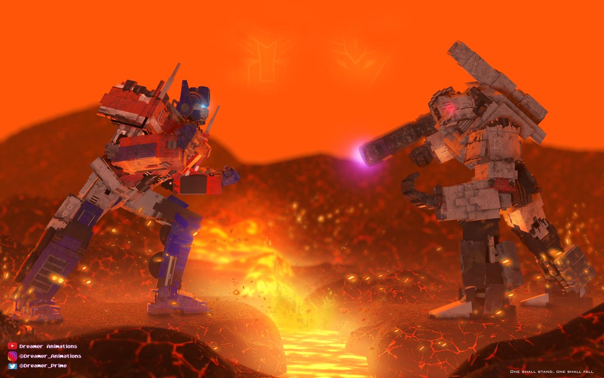 One shall stand, one shall fall  #transformers #optimusprime #megatron #autobots #decepticons #3dart