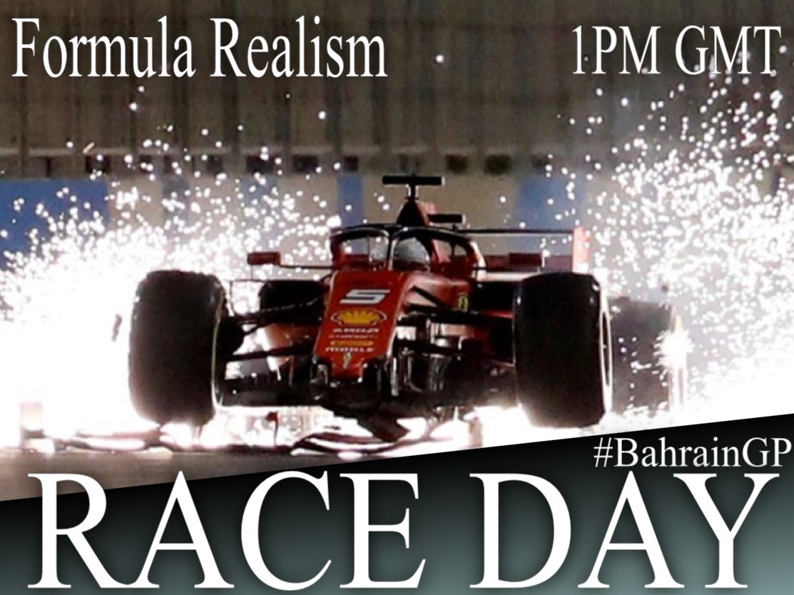 🔴🔴🔴RACE DAY🔴🔴🔴  ⚫️ Formula Realism 🏁 Round 2 🌍 Sakhir, Bahrain🇧🇭 📍 Bahrain International Circuit ⏰ 1PM GMT 📑 Full Q + 50% R 📺 https://t.co/RuCemEJxOD… 🎙 @Marioo_33 + @kya19100278   #FormulaRealism #CPR #CleanPSRacing #BahrainGP https://t.co/T5UFppx8iF
