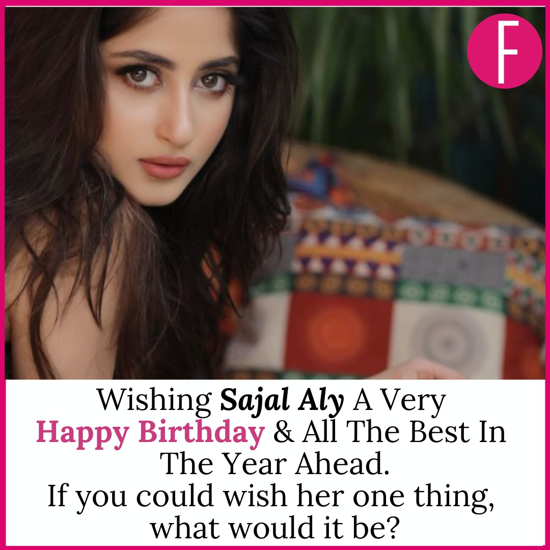 If you could wish her one thing, what would it be?  Wishing #SajalAly Aly a very happy birthday & all the best in the year ahead. Happy Birthday Beautiful #HappyNewYear2021 #HappyBirthdaySajal #sajal #sundayvibes #NEW #alif #yks #Aangan #mom #birthday #whatslovegottodowithit