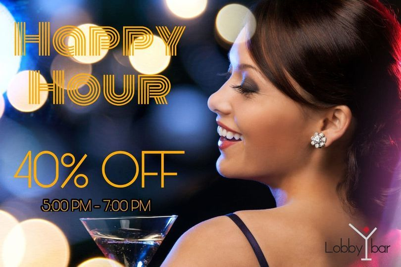 """Happy Hour from 5:00pm - 7:00pm daily 40% OFF except bottles. Relax, unwind & enjoy an early evening cocktail or after-work drink with colleagues & friends at the Lobby Lounge Bar.  Visit """"   #HappyHour #PhnomPenh"""