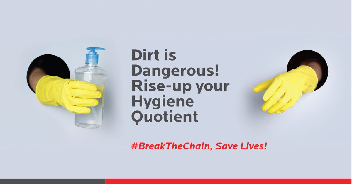 Filthy and unhygienic places around you are your Enemy No.1! Remember to sanitize, #wearamask and keep your surroundings clean. Rise-up your Hygiene Quotient!   #BreakTheChain, Save Lives! #letsfightagainstcovid19 #weshallovercome