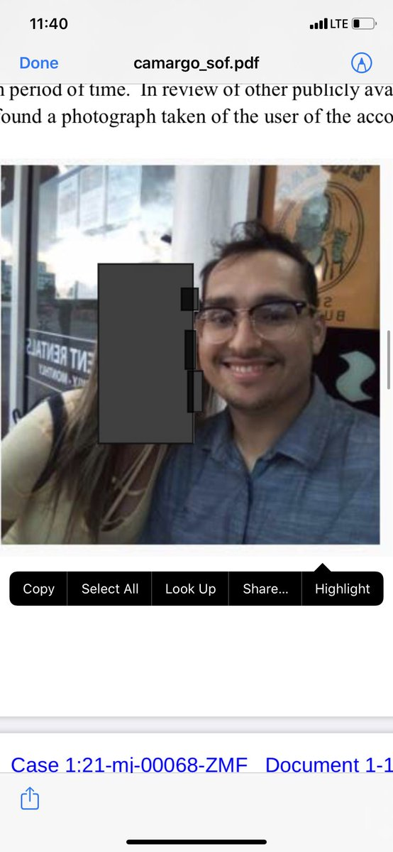 """Samuel Camargo stormed the Capitol, & bragged about stealing something. An FBI agent called him, & he allegedly questioned the agents """"loyalty to the constitution"""". He then wrote on Facebook he spoke to an FBI agent & """"I believe I've been cleared."""" The FBI has since charged him."""