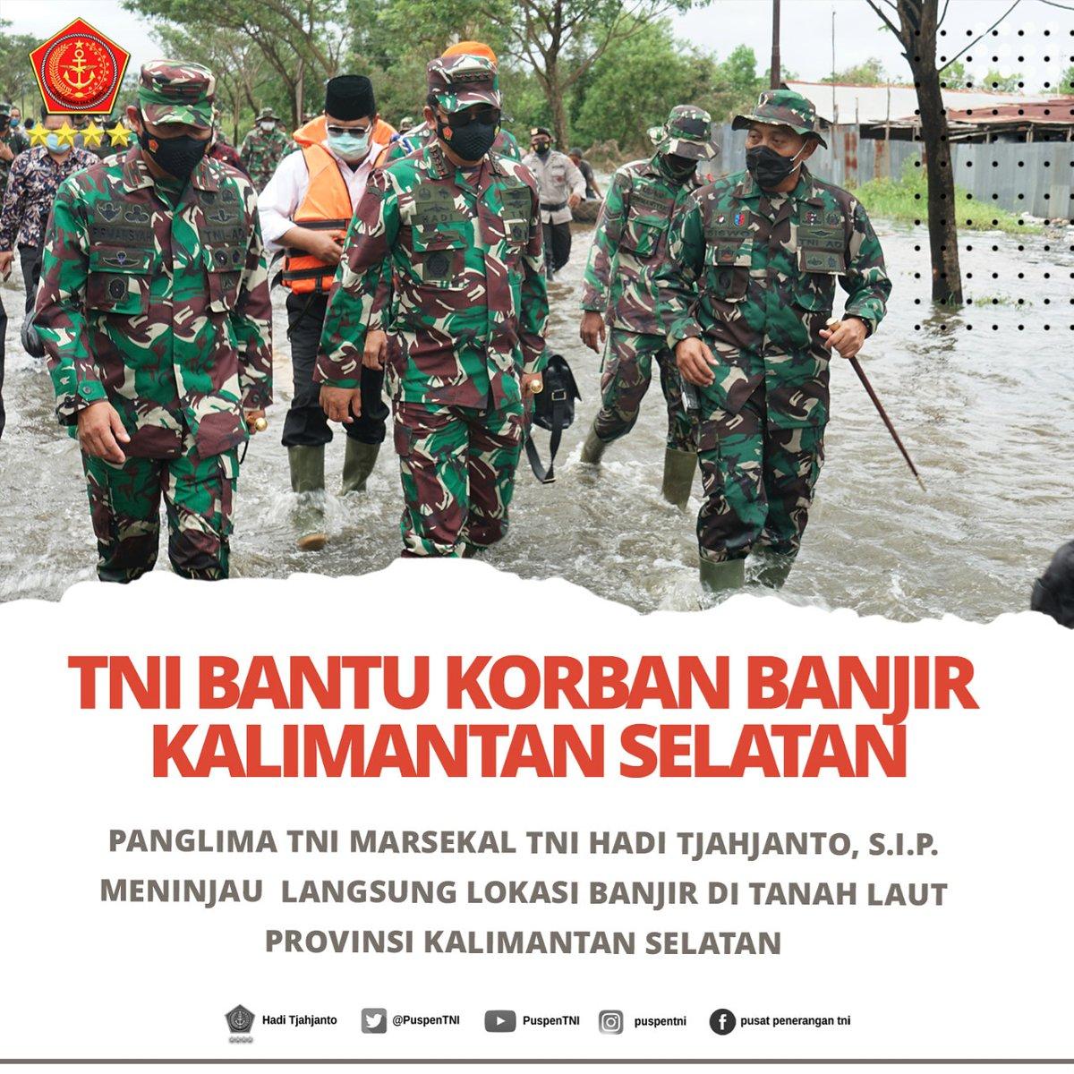 TNI bantu korban banjir di Kalimantan Selatan.   #tni #p5tni #tnipeduli #tniuntukrakyat #banjir #kalsel