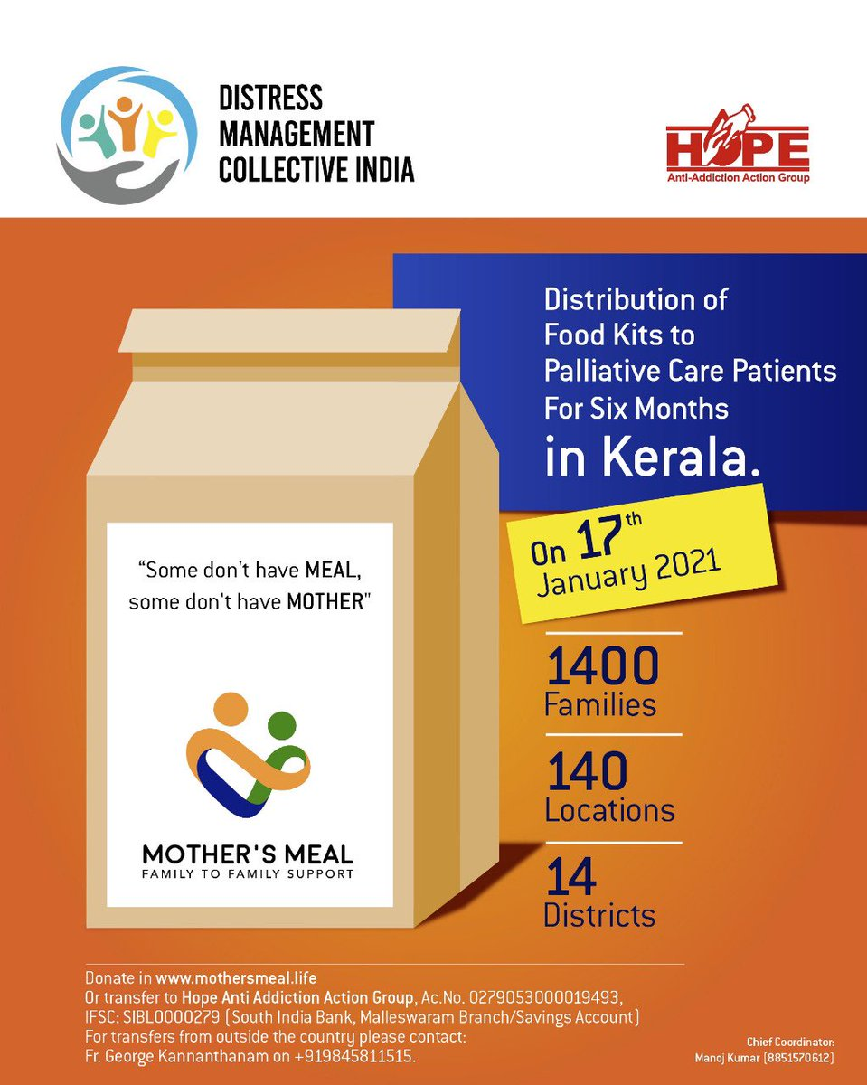 Mothers Meal. In all States and UTs . Completed 4 months. 335000 meals in Kerala alone @narendramodi @JPNadda