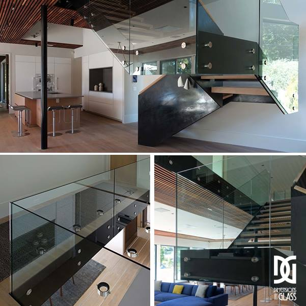 Thanks to our #creative team for this #beautiful custom #glass #staircase and railings. . . #Teamwork #workhard #payoff #creativepeople #homeimprovement #homes #innovation #vision #interiordesign #customglass #glasswork #DimensionsInGlass #CT