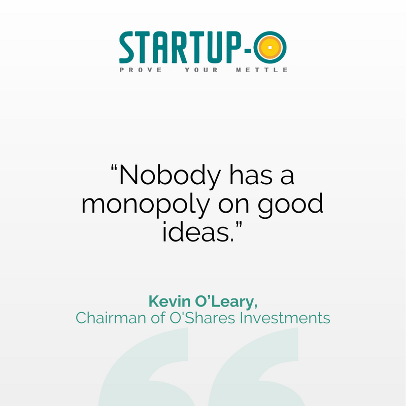 💁♂️ Don't ever think your idea is too small or you can't bring your vision to life. The only thing that can stop you is excuses.   Kick start your startup journey with Startup-O!  🔗    #StartupO #QOTD #KevinOLeary #Ideas #Vision #Ability