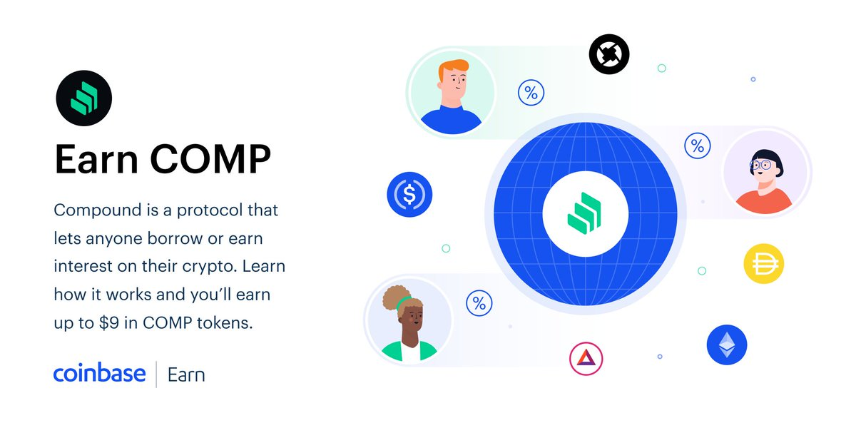 Earn interest with #Compound - a protocol running on #Ethereum that lets individuals developers and applications earn #interest on their #crypto without relying on third parties #Crypto #cryptocurrencies #cryptotrading #makemoneyonline #makeMoneyFromHome