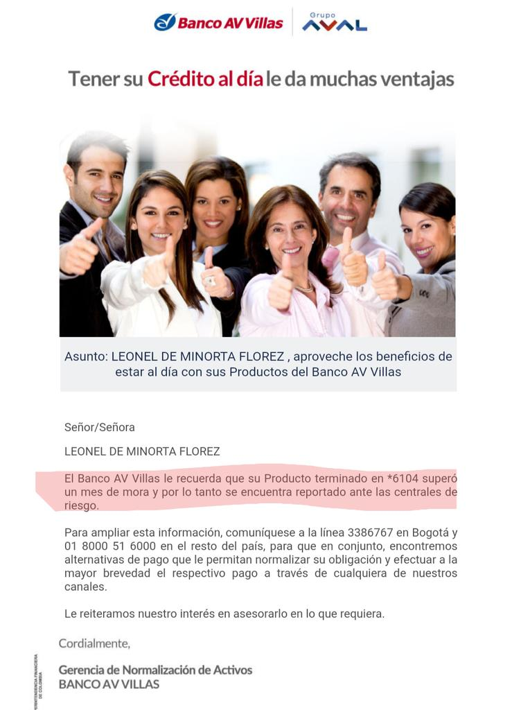 @IvanDuque Mientras tanto estos son los apoyos que nos brindan los bancos. A los que estamos afectados por la crisis. #avvillas #Colombia #grupoaval #aval  @petrogustavo @intiasprilla @JulianRoman @MJDuzan @Matador000  👇🏽👇🏽👇🏽👇🏽👇🏽👇🏽👇🏽. 🔄🔁