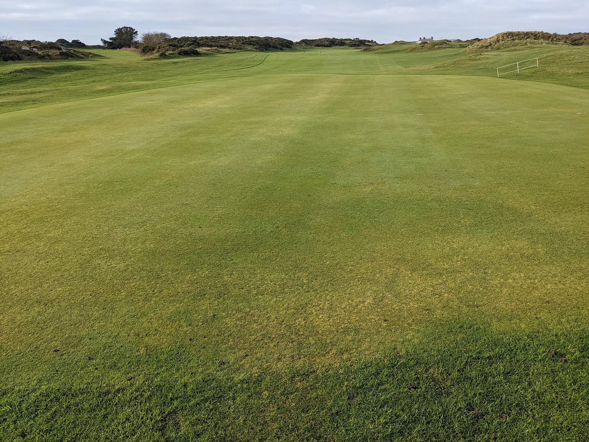 16th green at Bull Bay GC Isle of Anglesey looking immaculate yesterday. #golfing #egtgolftour   #golf #wales 🏴  @visitwales