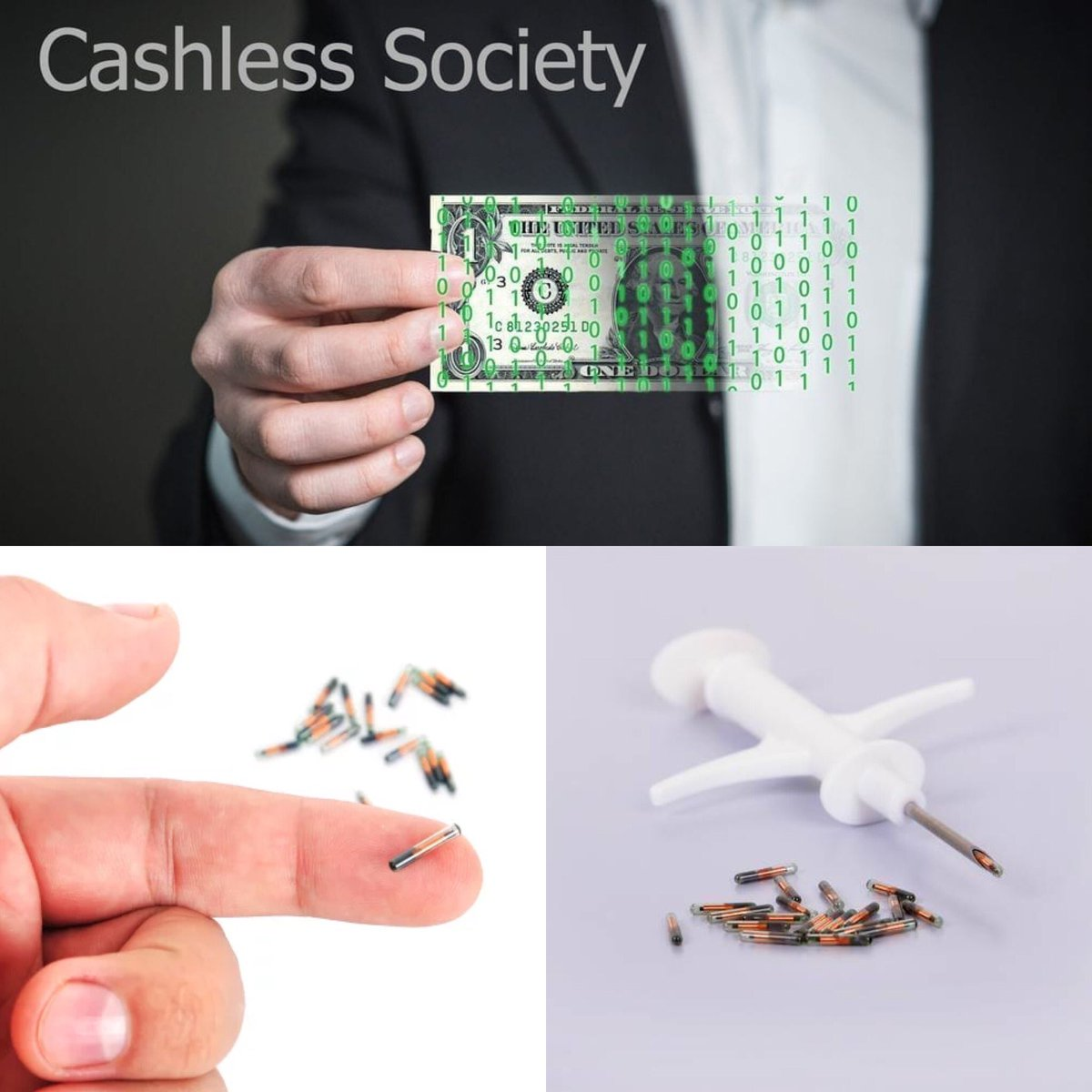 This is the 👉🏾9/11👈🏾 money 💵 don't matter if your #rich or #poor 🌊 #WallStreet 🌊 means #cashless society 💵 a lot of people right now already took the mark of death 💀 they've become one ☝🏾with the 🔥 #beastsystem 🔥 @BarackObama