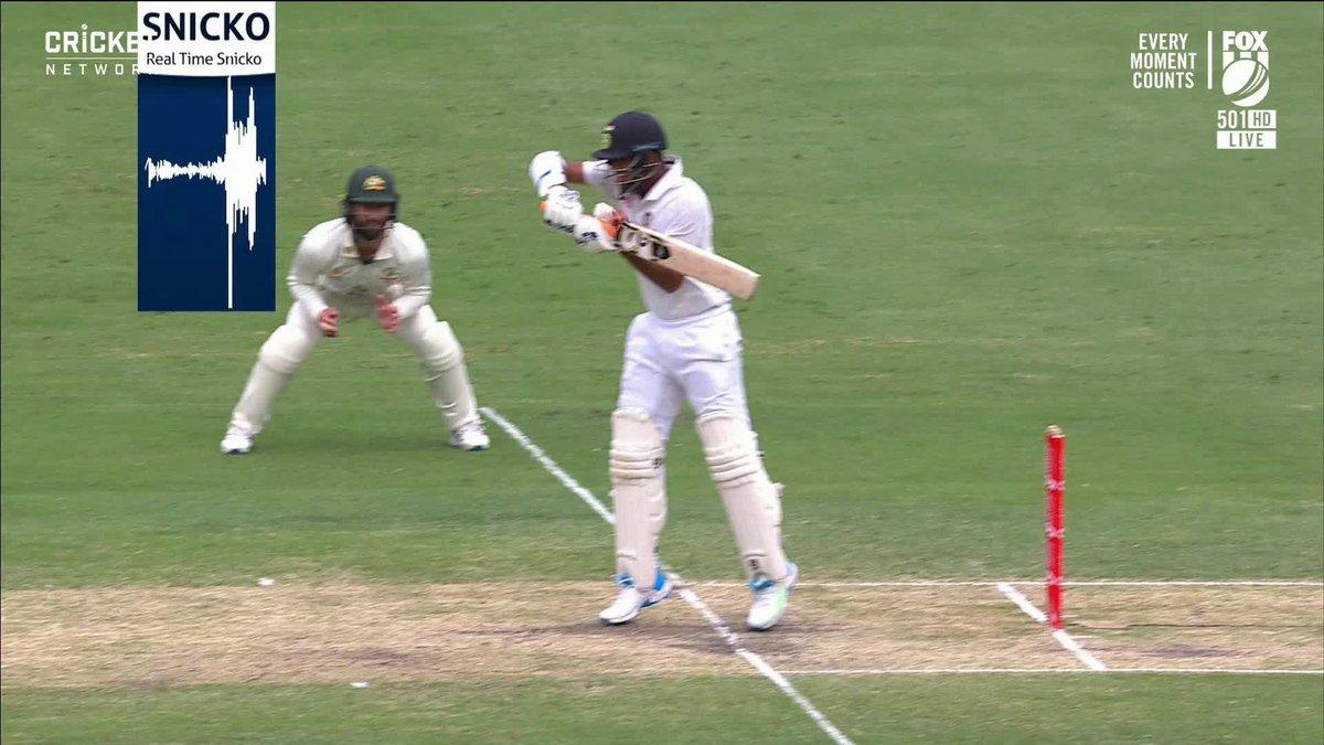 Did that brush the glove? Mitch Starc having one of those days.  Live #AUSvIND: