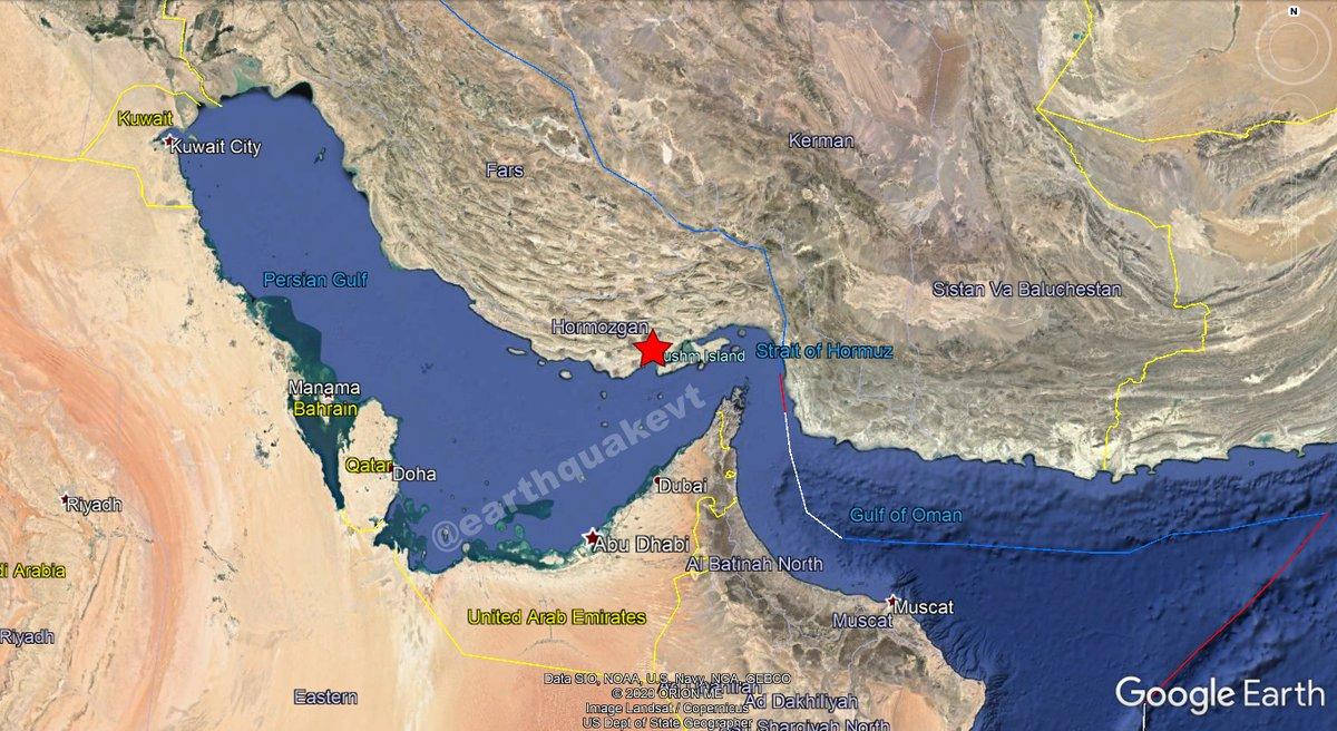 ⚠️#Iran🇮🇷: A mild #earthquake of magnitude mb=4.7, was registered at 47 KM NE of #BandarELengeh, province of #Hormozgān. Depth: 10 KM. More info:  Did you feel this earthquake?, Tell us!. #EQVT,#زلزله,#erdhejî,#زلزال,#sismo,#רעידת_אדמה,#temblor,#terremoto.